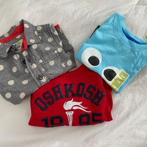 2 NWT and 1 NWOT 12 mos shirts for all occasions!